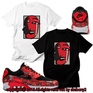quality design 625b5 2819a Details about CUSTOM T SHIRT matching ATMOS X NIKE AIR MAX 90 THE WE LOVE  NIKE AM90 1-1-3