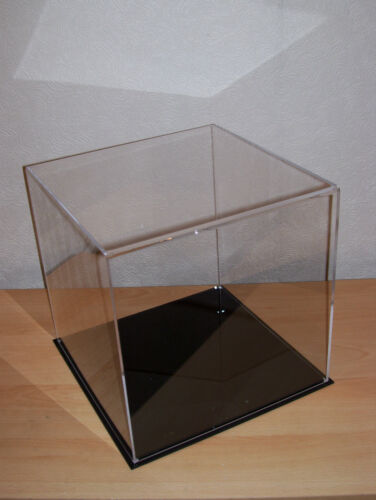 300mm clear acrylic perspex display case cube