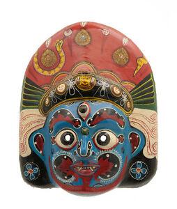 Maschera Nepalese Mahakali Kali Dance Indra Jatra Nepal Carta Mache Mask 7315