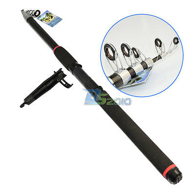 2.1/2.4/2.7M Carbon Fiber Telescope Outdoor Fishing Rod Travel Spinning Pole