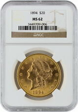 1894 $20 Liberty Head Double Eagle PCGS MS 62 Old Early Gold Coin Mint UNC 62
