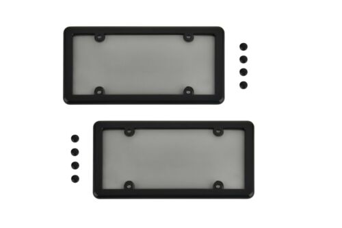 2 Black Frame 8 Screw Caps New 2 UNBREAKABLE Flat Smoke Shield