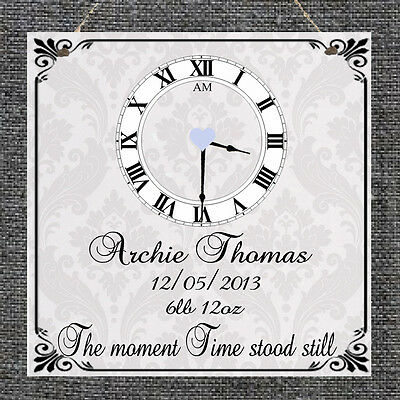 Personalised Wedding Anniversary Marriage Plaque New Baby Birth Gift Present