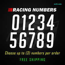 Racing Numbers Vinyl Decal Sticker Dirt Bike Plate Number Bmx Competition 779