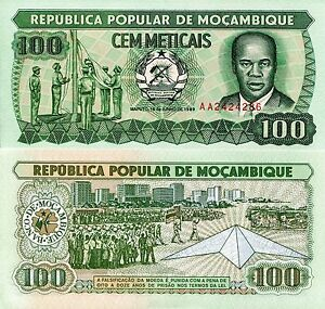 Image Is Loading Mozambique 100 Meticais Banknote World Paper Money Unc