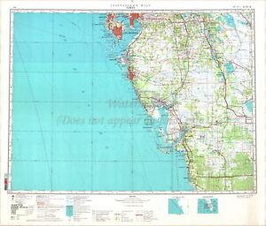 Map Tampa Florida.Soviet Russian Topographic Map Tampa Florida 1 500 000 Ed 1984