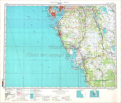 Soviet Russian Topographic Map TAMPA, FLORIDA 1:500 000 Ed.1984 REPRINT    eBay