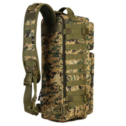 Camo Tactical Assault Go Bag Shoulder Sling Military Gym Hiking Camper Backpack