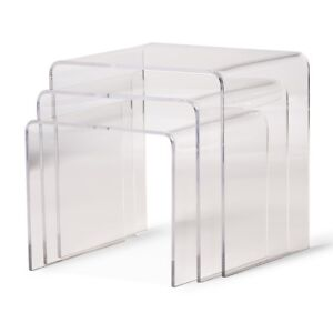 Clear-Acrylic-Nesting-End-Side-Table-3-Piece-Set-Modern-Display-Stands-Designer