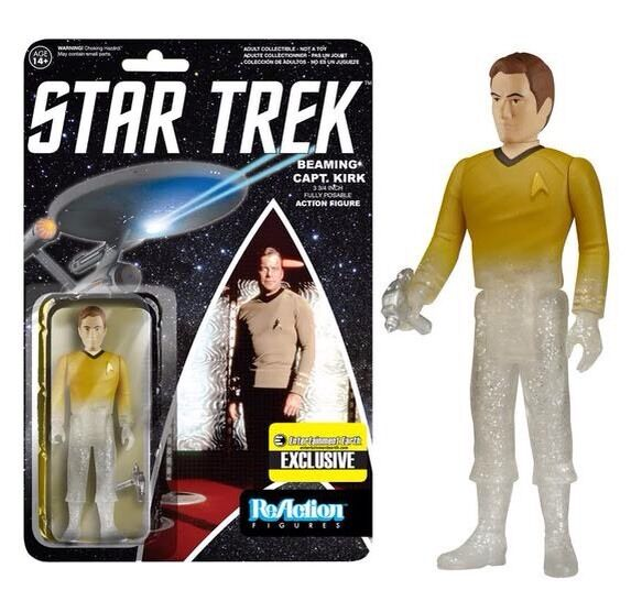 Star Trek Captain Kirk Beaming Exclusive Action Figure FREE SHIPPING MOC //NM