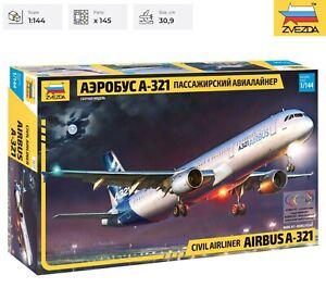 Airbus A-321 Zvezda Model Kit 7017 Civil Airliner Scale 1/144