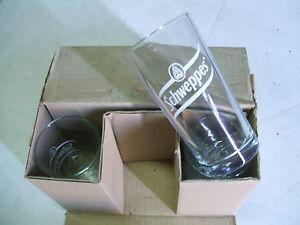 LOTTO-6-Bicchieri-SCHWEPPES-Cilindrico-BAR-PUB-Pubblicitari-0-30-lt-con-logo