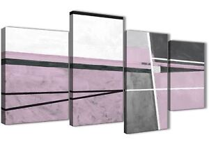 Large Lilac Grey Painting Abstract Bedroom Canvas Art Decor - 4395 ...