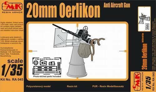 Czech Master 1//35 20mm Oerlikon AA Gun WWII # RA045