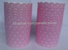 20 pcs Pink White Polka Cupcake Liner Baking Paper Cups Candy Holder