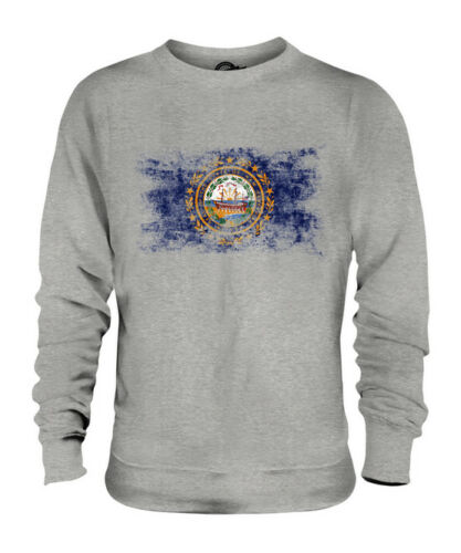 Camicia Nuovo Unisex Consumato State Effetto Hampshire Maglione Bandiera zrx08qwz