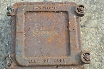 Vintage Cast Iron Electrical Fuse Box Switch Wall Storage Light Lamp 746227  | eBayeBay