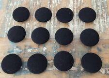 ♥ Zauberhafte alte große Stoffknöpfe schwarz 12 St. DM 32 mm ♥