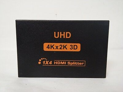 Hdmi Splitter 1 in 4 Out by DDIDA Powered Full Ultra HD 1080P V1.4 HDMI Display,Support 4K//2K and 3D Resolutions 1 Input to 4 Outputs