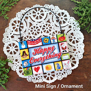 Happy-Everything-Wood-Ornament-Mini-Sign-DecoWords-Decorative-Greetings-USA-New