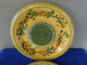 Certified-International-Yellow-with-Green-Center-Dinner-Plates-11-25-034