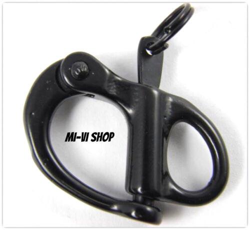 34 mm für Paracord-Leder usw Schnappschäkel - Edelstahl und Schwarz
