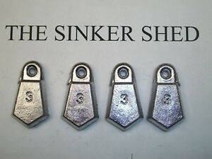 3 oz and 4 oz sinkers. Package of 2 oz Flat Bank Sinker Combo Package