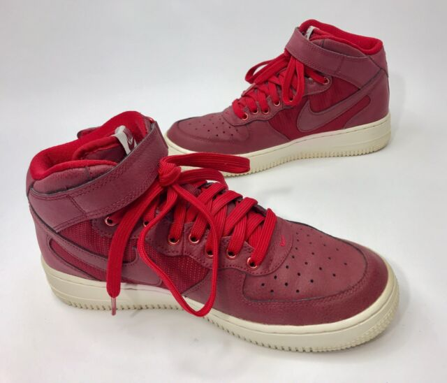 425245c7242d46 Nike Air Force 1 Mid Lv8 GS Shoes Size 7y Red White 820342 600 for ...