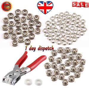 100pcs-Prong-Pliers-Ring-Press-Studs-Snap-Popper-Fasteners-9-5mm-DIY-Tool-Kit