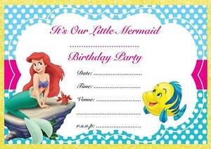 The little mermaid birthday party invitations invites childrens image is loading the little mermaid birthday party invitations invites children filmwisefo