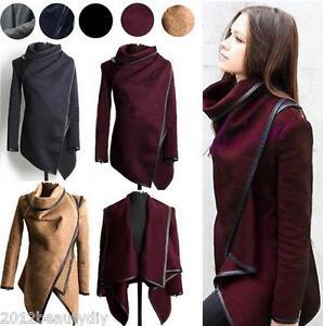 Winter-Warm-Women-Slim-Trench-Coat-Long-Wool-Jacket-Parka-Top-Cardigan-Outwear