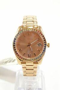 Fossil-ES4491-Scarlet-Rose-Gold-Tone-Glitz-Stainless-Steel-Bracelet-Ladies-Watch