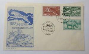 Spanien-FDC-Rio-Muni-Leopard-Nashorn-Krokodil-1964-430