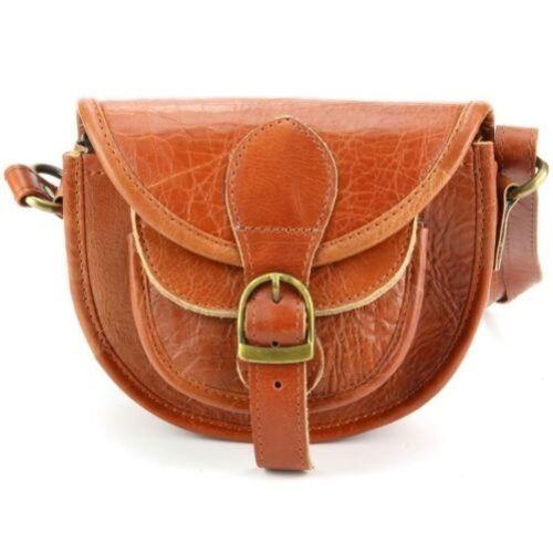 authentique à cuir femme en bandoulière Sac à main main à Sac cuir en marron pour zS0Aq