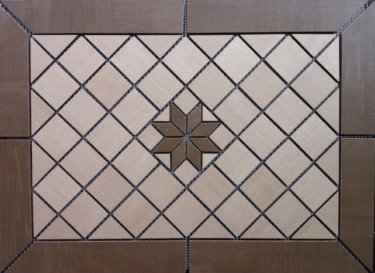 21 3 8  X 15 5 8  Tile Medallion -Daltile Skybridge tile