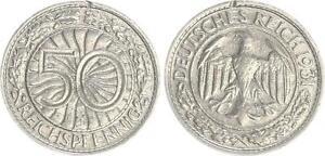 3.Reich/Weimar 50 Pfennig 1931 J Very Fine, Kl.randfehler
