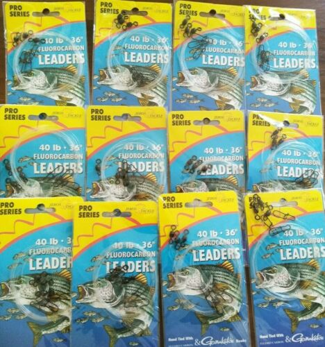 Pre-Tied swivels duo lock snaps Rig fluorocarbon leaders material  Seaguar line