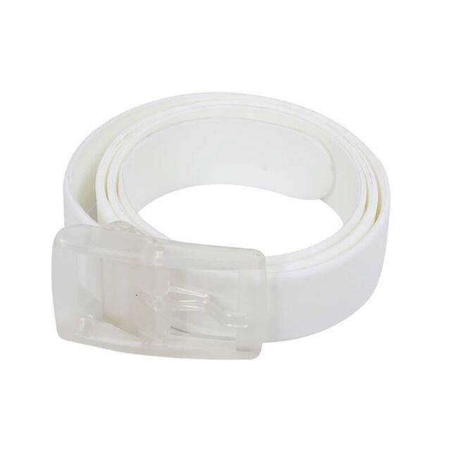 Unisex Stylish Candy Colours Silicone Plastic belt black X6T6