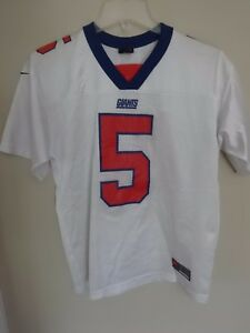 Details about Vintage Nike New York Giants Kerry Collins # 5 Replica Football Jersey Youth L