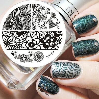 BORN PRETTY #07 Butterfly Nail Art Stamp Stamping Template Image Plate