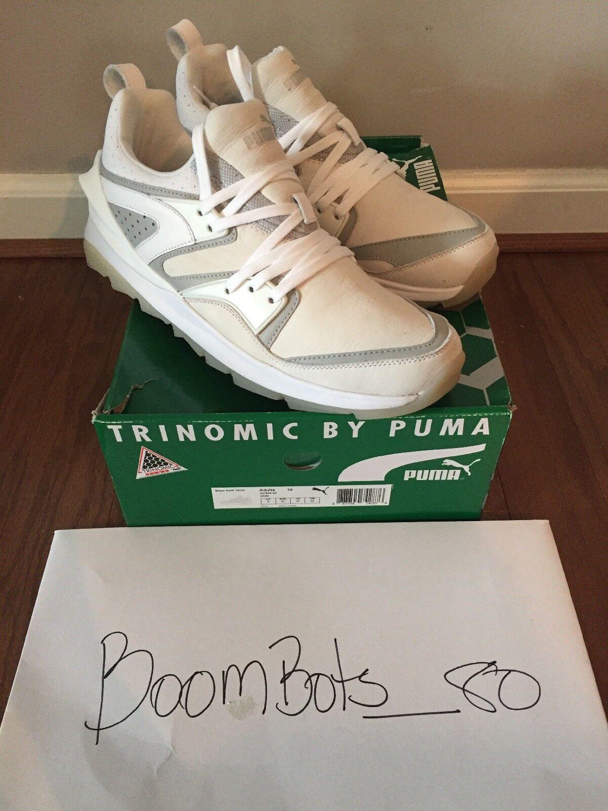 Puma Shoes Trinomic Blaze Swift Tech White Sneakers 10 Mens 357824