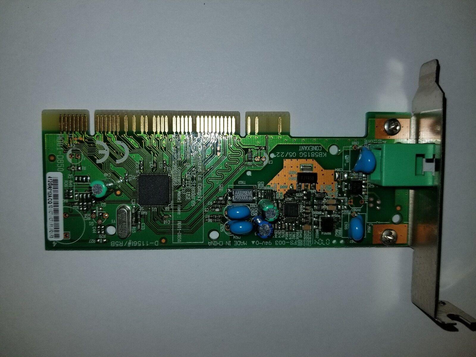 5188-6017 56Kbps V.92 (T-Rex) Low Profile Controllerless Fax/Modem RD01-D855-005