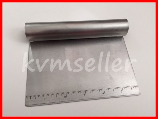 Stainless Steel Bench Knife Board Dough Scraper with built in measuring guide
