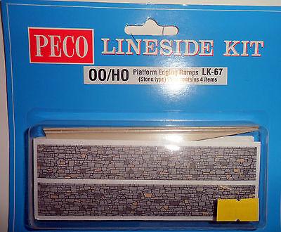 Peco LK-67 OO Gauge Platform Edging Ramps Stone