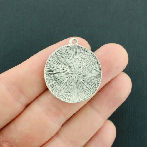 SC3986 BULK 10 Sun Moon Charms Antique Silver Tone Imitation Turquoise Stone