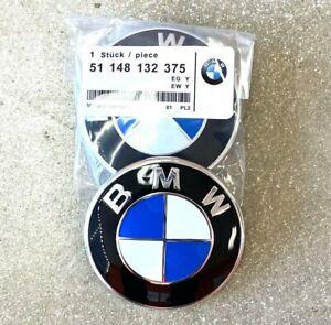 """82mm 3.25/"""" GENUINE BMW Hood Emblem Roundel OEM# 51148132375 INCLUDES Grommets"""