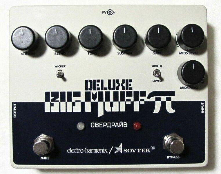 Used Electro-Harmonix EHX Deluxe Sovtek Big Muff Distortion Fuzz Guitar Pedal!