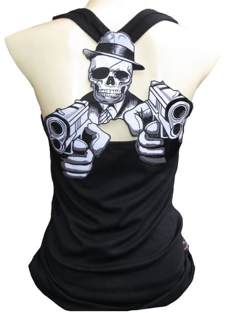 ROCKABILLY PUNK ROCK BABY Crime Thriller Skull TANK TOP SHIRT XS/S/M/L/XL/XXL