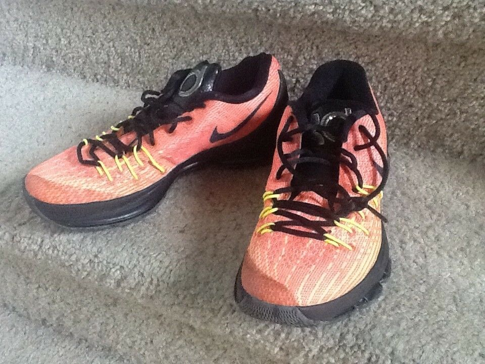 Nike KD 8 orange size 9 men's basketball shoes