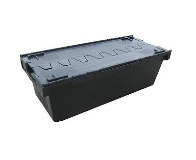 5 grandes près de nouveau plastique noir suppression du stockage caisse container 135 litre